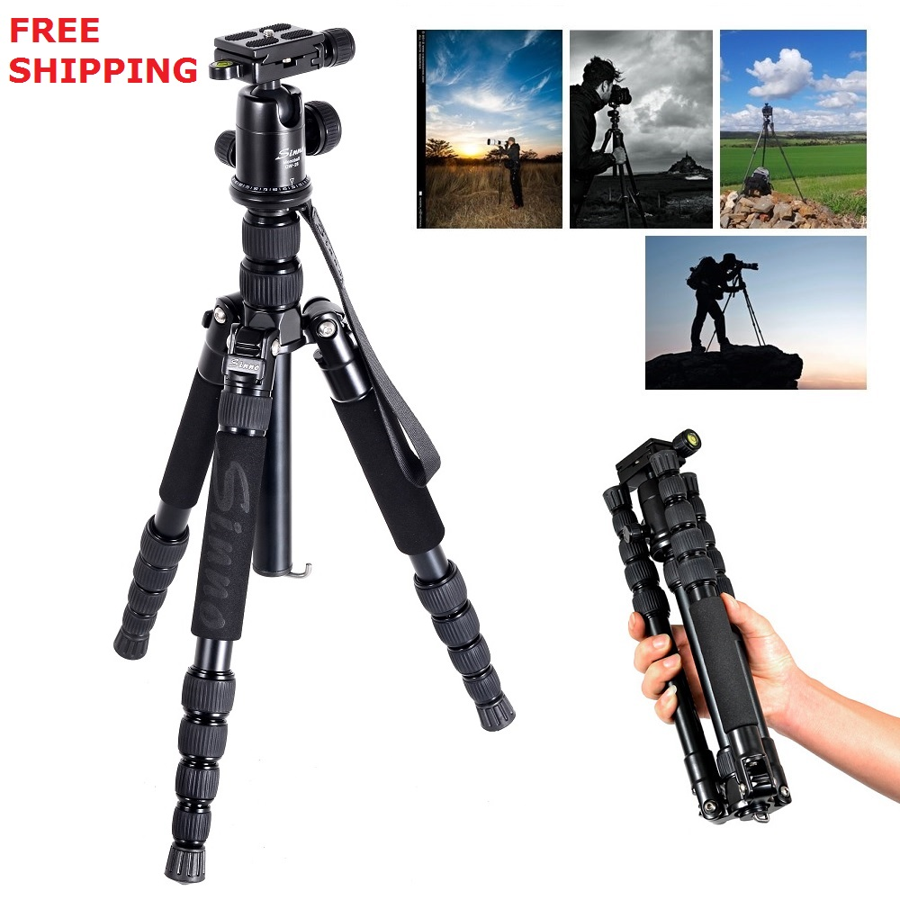 sinno M2522Z Portable Flexible Aluminum Professional Tripods Monopod Ball Head For DSLR Digital Camera Canon Nikon