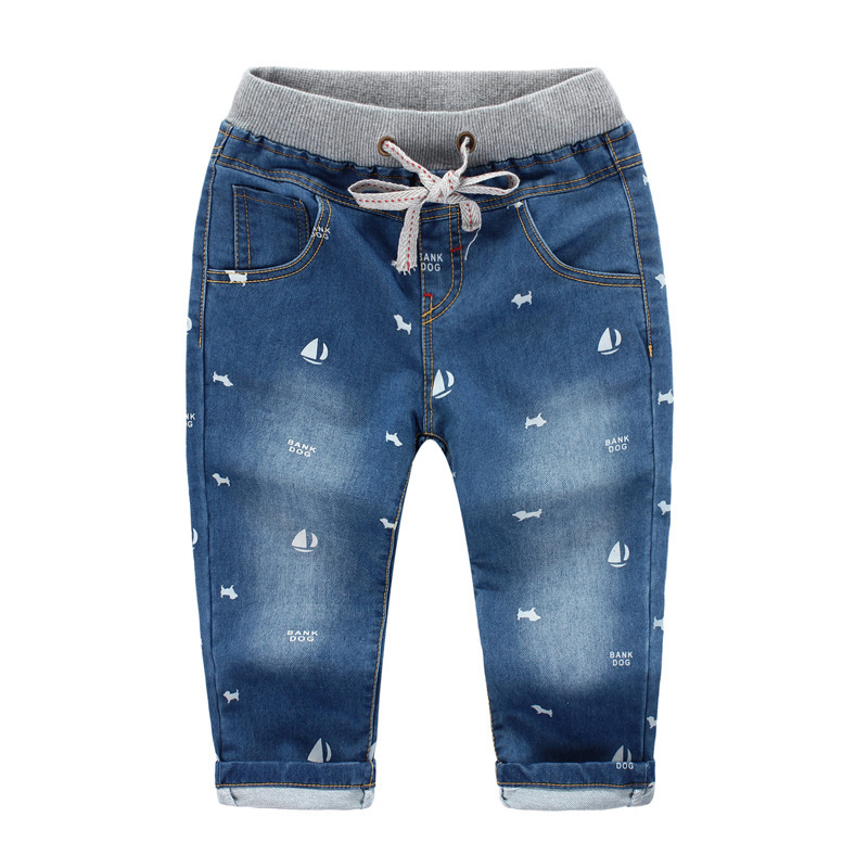 Lovely Boats Vintage Boys Jeans Hot Sale Kids Jeans Nice Gift Baby Boy Pants Jeans For Children ...