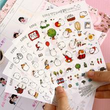 6 teile/los niedlichen kaninchen PVC papier aufkleber diy dekoration klebrige album tagebuch scrapbooking spielzeug für kinder post es(China (Mainland))