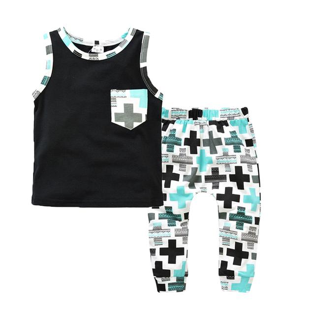 VIDСредний мальчик одежды Бренда летние дети одежды наборы футболка + брюки костюм ...