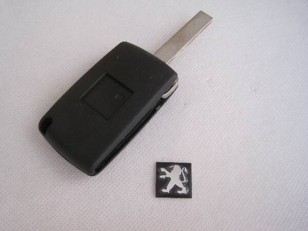 2 button modify car key shell grooved blade peugeot(China (Mainland))