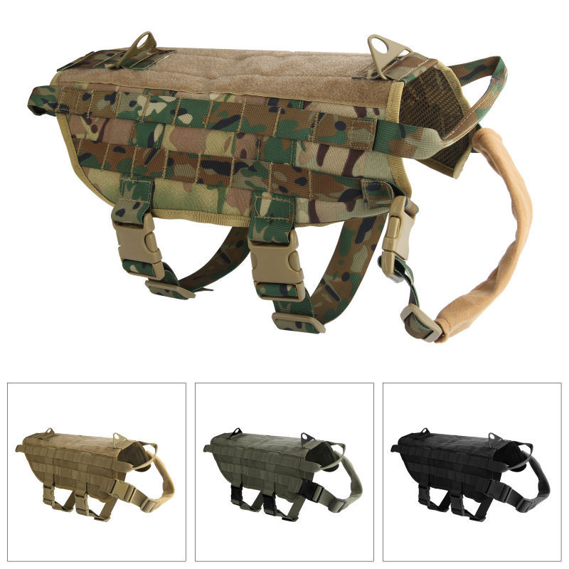 New Arrival Tactical Dog Molle Vest Harness Training Dog Vest(China (Mainland))
