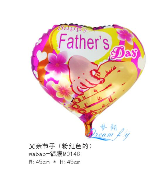 18inch happy father's day design hot air balloon party decoration balloon(China (Mainland))