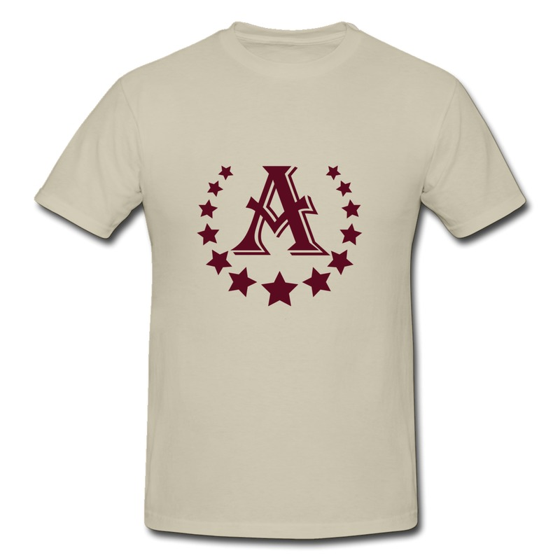 Make Own Cotton Tee Shirt Mans a letter stars crown Fun Picture T for Mans Dropshipping(China (Mainland))