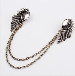 Gold/Silver Fashion Charm Elegant Romantic Punk Retro Remarkable Freedom Gem wings brooch for women wholesale PT32(China (Mainland))
