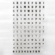 DECORA 1PCS Alphabet And Digital Design Transparent Stamp DIY Scrapbooking/Card Making/Christmas Decoration Supplies(China (Mainland))