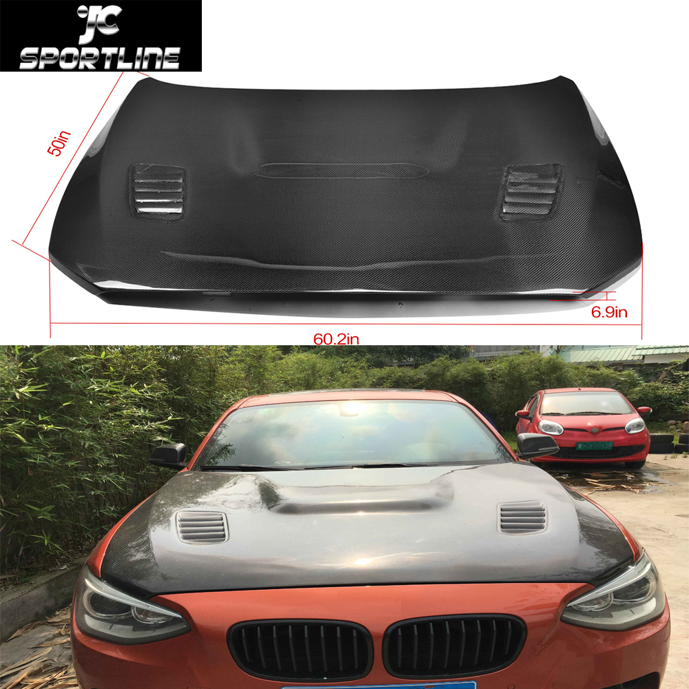 F20 car-styling Double sided carbon fiber auto front engine bonnets hood cover for BMW F20 2012-2015(China (Mainland))