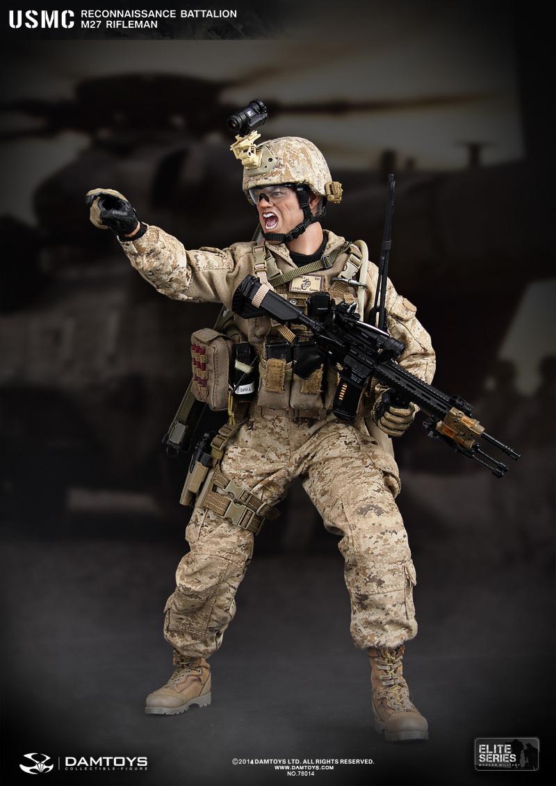CrazyDummy 1/6 Scale doll USMC RECONNAISSANCE BATTALION M27 RIFLEMAN ,Soldier 12 Figure model finished product