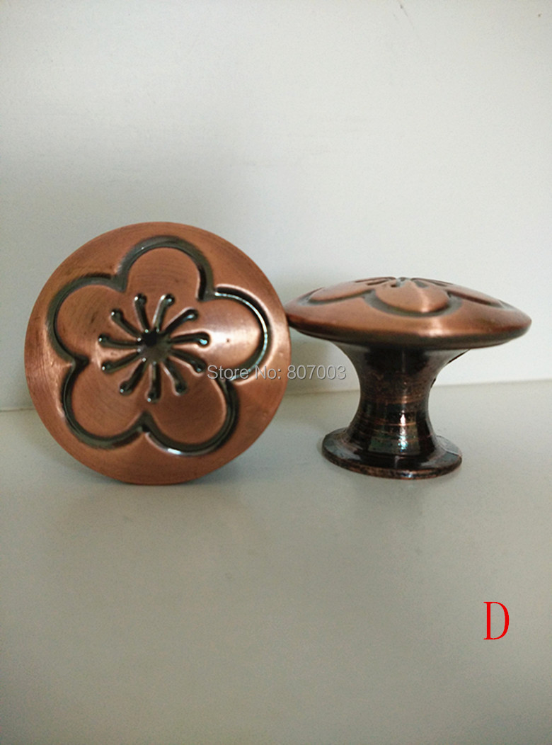 Diameter 30mm 15pcs/lot Antique copper Knob Pull Handle Kitchen Cabinet Hardware free shipping - D<br><br>Aliexpress