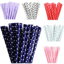 25pcs/lot Mini Dot Paper Straws for Kids Birthday Wedding Decoration Party Straws Event Supply Creative Paper Drinking Straws(China (Mainland))