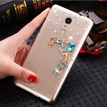 "Buy 5 Style Blue Butterfly flowers Rhinestone Case Lenovo K6 5.0"" Cover Lenovo K6 note 5.5"" Clear Hard plastic Phone Cases for $4.25 in AliExpress store"