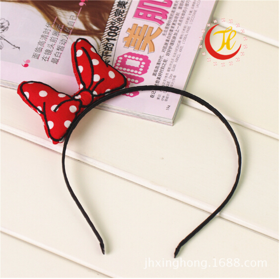 Baby Girl Children's minnie range hair head band scrunchy bow headband hoop for hair hairbands cute accessories bowed bands 2015(China (Mainland))