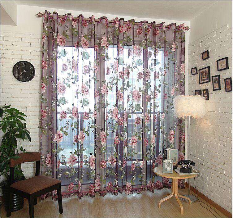 Fashion tulle for windows luxury translucidus sheer - Cortinas vintage dormitorio ...