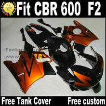 Buy Customize fairing kit for HONDA CBR 600 F2 1991 1992 1993 1994 fairings CBR600 91 92 93 94 brown black plastic CV52 for $306.90 in AliExpress store