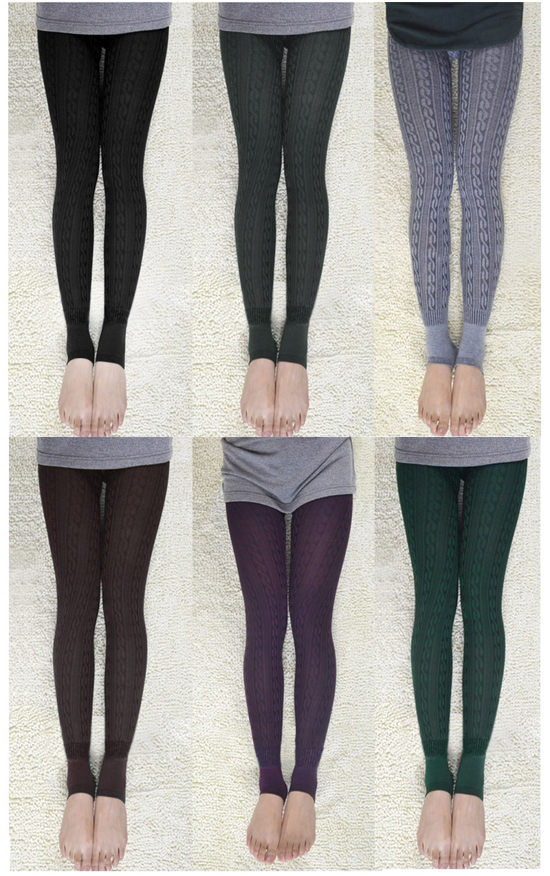 Leg Stretches Stretch Knitted Leggings