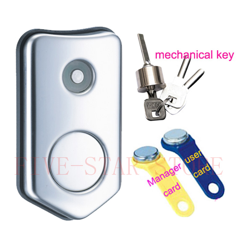 unique digital cabinet lock with TM card and cylinder key electronic sauna bath center storage locker lock 1.5mm stainless steel(China (Mainland))