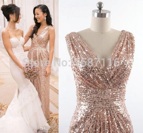 Gold Sequin Bridesmaid Dresses Australia images