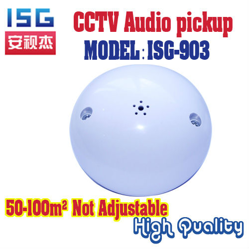 CCTV Microphone Audio Pick Device High Sensitivity Ceiling Mount Sound Monitor Security Camera cctv mic - Shenzhen ISG Technology Ltd. store
