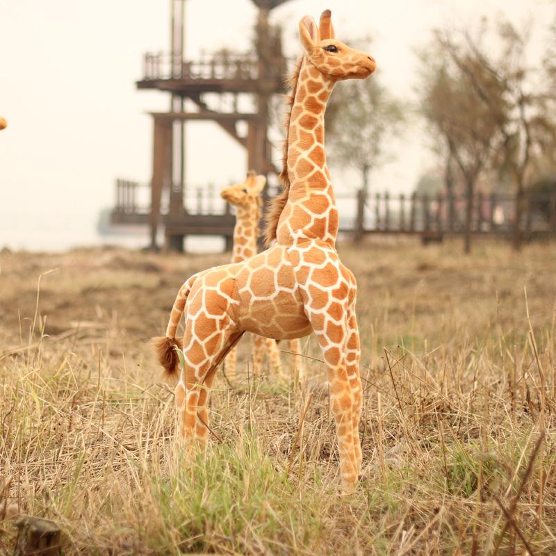 Фотография simulation animal about 120cm standing giraffe plush toy , party decoration toy, birthday gift b4954