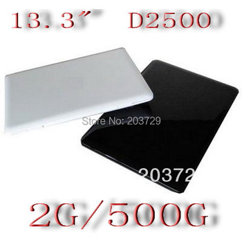 Wholesale -13.3 inch 1.6GHz dual core 2G  500G Netbook mini Laptop free shipping ems Fed