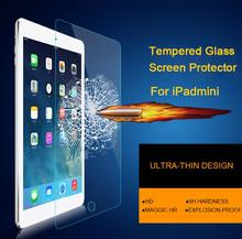 2015 Lastest 9H 0.3mm Premium Tempered Glass protective Film For iPad mini 1/2/3 7.9 inches High Definition Screen Protector