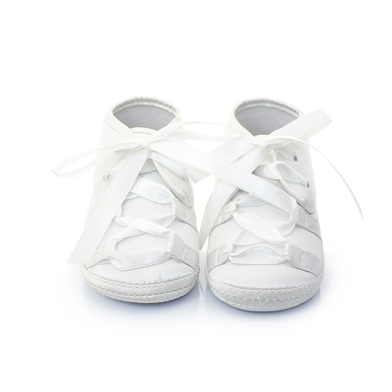 Unique Newborn Baby Baptism Shoes & Christening Shoes Pure White Lace-up T Design First Walkers Newborn Hot Sale Baby Shoes(China (Mainland))
