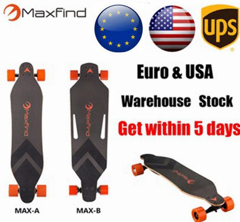 Maxfind Newest professional Sports Electric Skateboard/ longboard with dual power hub motor + high speed skate board for Adult(China (Mainland))