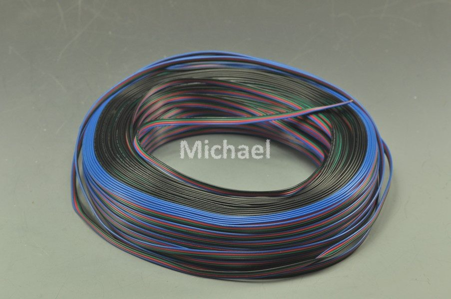 Free Shipping Wholesale 65 Feet RGB LED Flexible 4-Pin Extension Cord Data Line Extension Cable For Led Strip RGB3528 RGB 5050(China (Mainland))