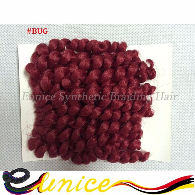 "cheap short length 10"" bouncy curly hair extension bouncy tiwist cosplay brazilian crochet braiding hair bundle human wave hair"