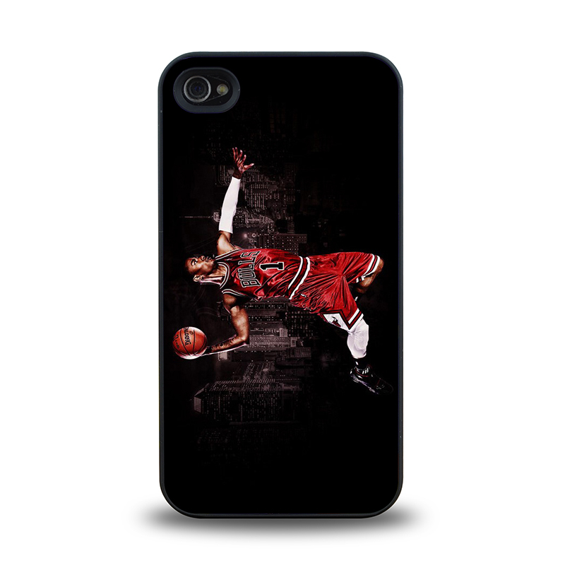 NBA player Chicago Bull No. 1 Derrick Rose #21 mobile phone battery case cover for iphone 4 4s cases covers plastic phone cases(China (Mainland))