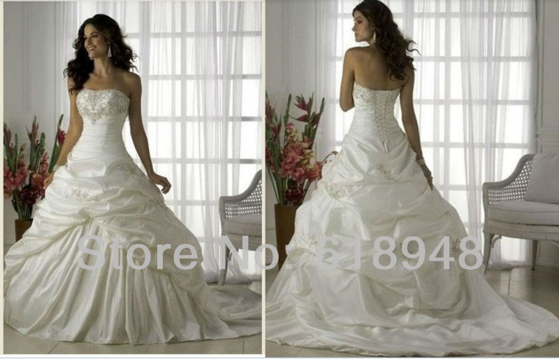 Ball Gown Wedding Dress Material : Material ball gown popular wedding dresses gowns d in