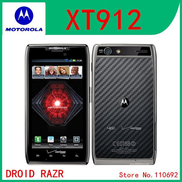 "Original Unlocked Motorola XT912 Android phone Dual Core ROM 16GB Camera 8.0MP Bluetooth 4.0 4.3"" RAZR,Free shipping(China (Mainland))"