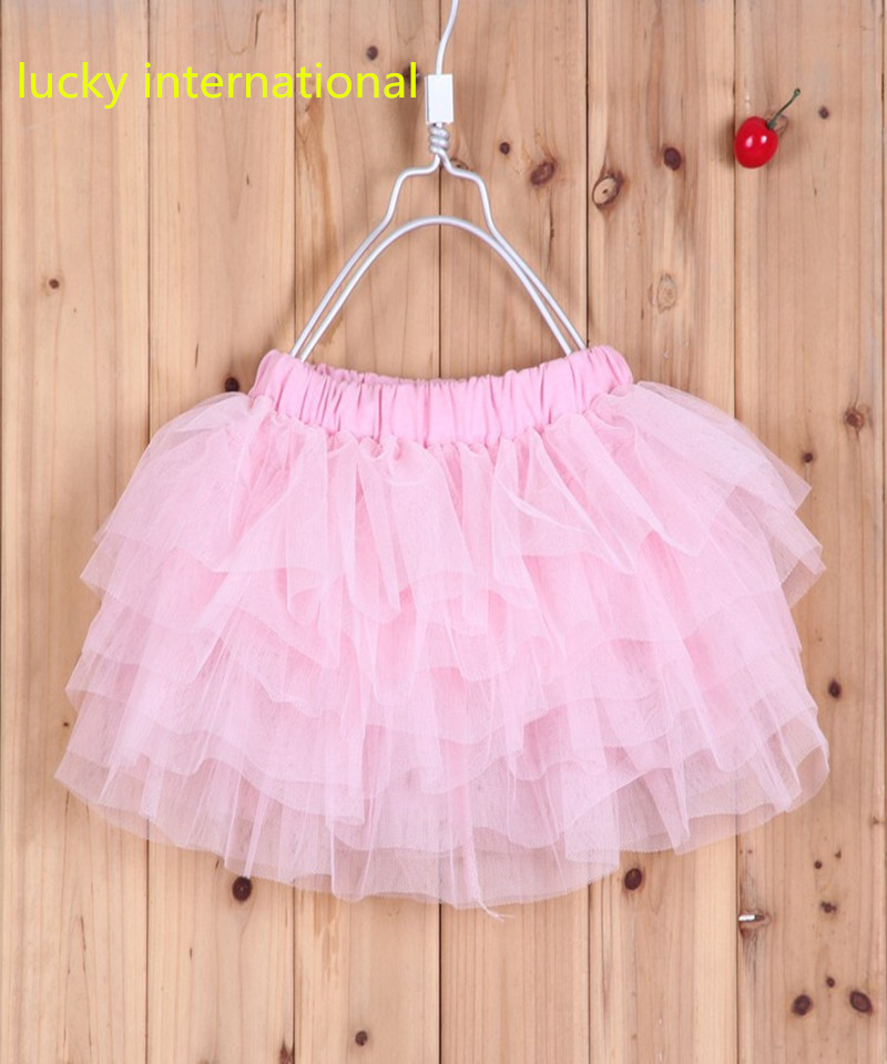 Cotton Kids Bow Lace Ball Gown Casual yarn Princess Baby girls tutu skirts 2-16Y(China (Mainland))