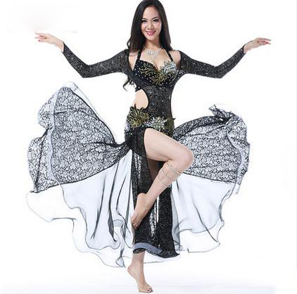 New style belly dance costumes senior sexy bra+lace long sleeves top+skirt 3pcs belly dance set for women belly dance suitsОдежда и ак�е��уары<br><br><br>Aliexpress