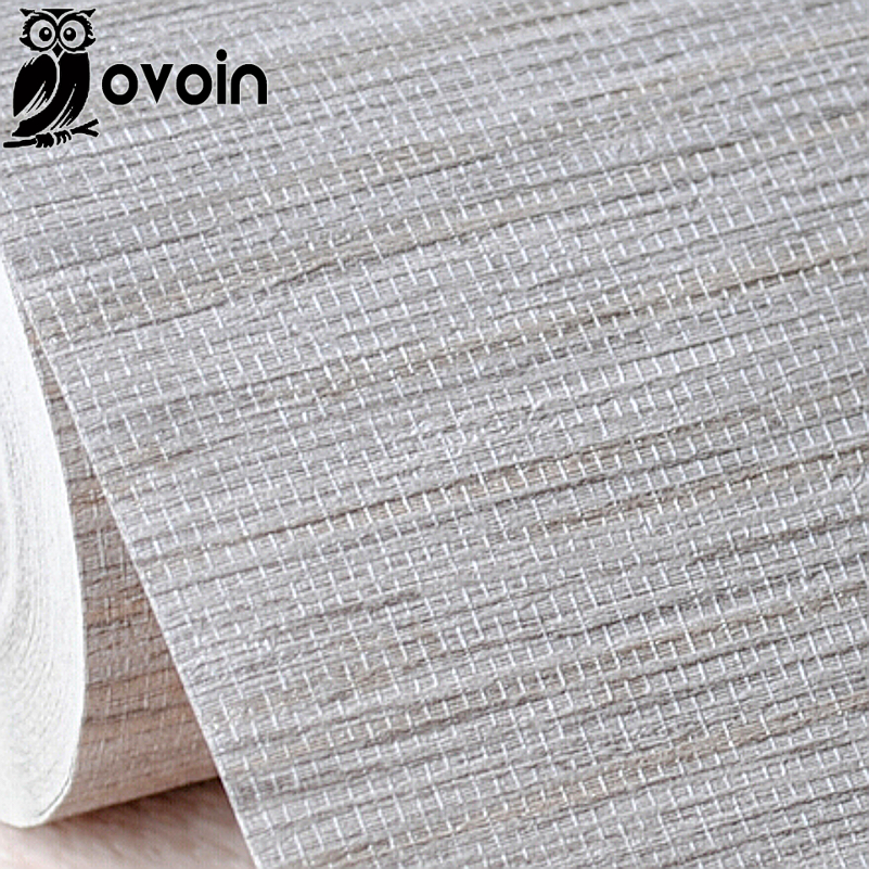 Faux grasscloth textured vinyl wallpaper grey beige for Gray vinyl wallpaper