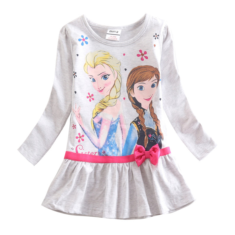wholesale children t shirts elsa t shirt long sleeve 2015 Nova kids brand girl t shirt fashion girls clothes spring and autumn
