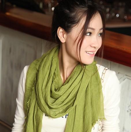 Горячая распродажа большой размер осень зима женщины шали и шарфы париж пряжа сплошной цвет шарф женский пашмины шарф бесплатная доставка WJ3018