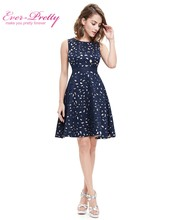Autumn Women Cocktail Party Dress 2016 EP05432NB Elegant A-Line Mini Navy Blue Lady Cocktail Dresses(China (Mainland))