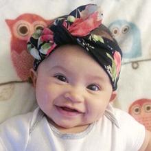 1 PC Baby Kids Girls Children Toddler Newborn Infant Bohemia Rabbit Ears Hairband Turban Knot Headband Hair Band Accessories(China (Mainland))