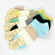 1 lot =10pairs =20pcs spring and summer and autumn cute women sock Candy lady boat socks free shipping(China (Mainland))