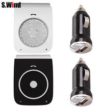 Sunvisor Wireless Bluetooth Handsfree Car Kit Audio Music Speaker Speakerphone for Mobile Phone + USB Car Charger(China (Mainland))