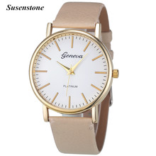 2016 NEW Fashion Brand 6 Colors Simple Leisure Women Ladies Analog Leather Quartz Wrist Watch Watches relogio feminino Gift