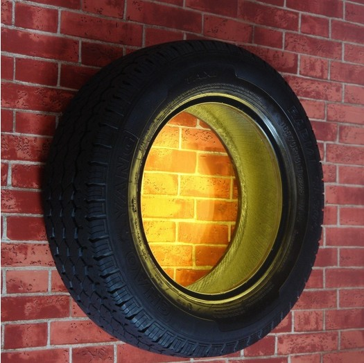 American Loft Style Wall Sconce Creative Punk Tires LED Wall Lamp Industrial Vintage Wall Light Fixtures Home Lighting Lampara<br><br>Aliexpress