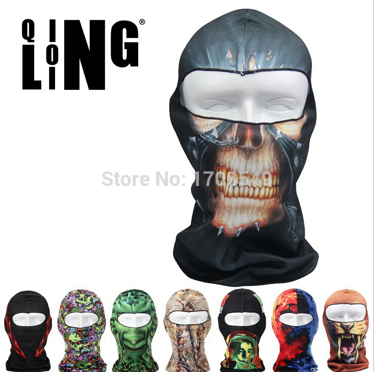 Balaclava Outdoor Bicycle Bike Cycling Basketball Golf Ski Hat 3D Headgear Face Mask Hunting Protection Promotion Cool Mask(China (Mainland))