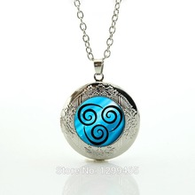 Air Nomad Necklace from Avatar the Last Airbender Bright Silver or Antique Bronze Pendant, Unique Jewelry Handmade N616(China (Mainland))