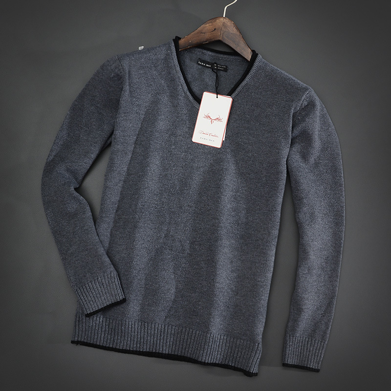 Brand Dress 2015 Autumn Winter Men's Sweater Casual High Quality Jumpers Pullover Mens Elegant V-neck Cashmere Sweater(China (Mainland))