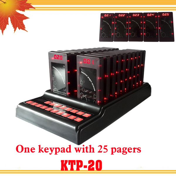 1 keypad 25 guest coaster pager with screen display call number waiter call customer Personal pager coaster paging system(China (Mainland))