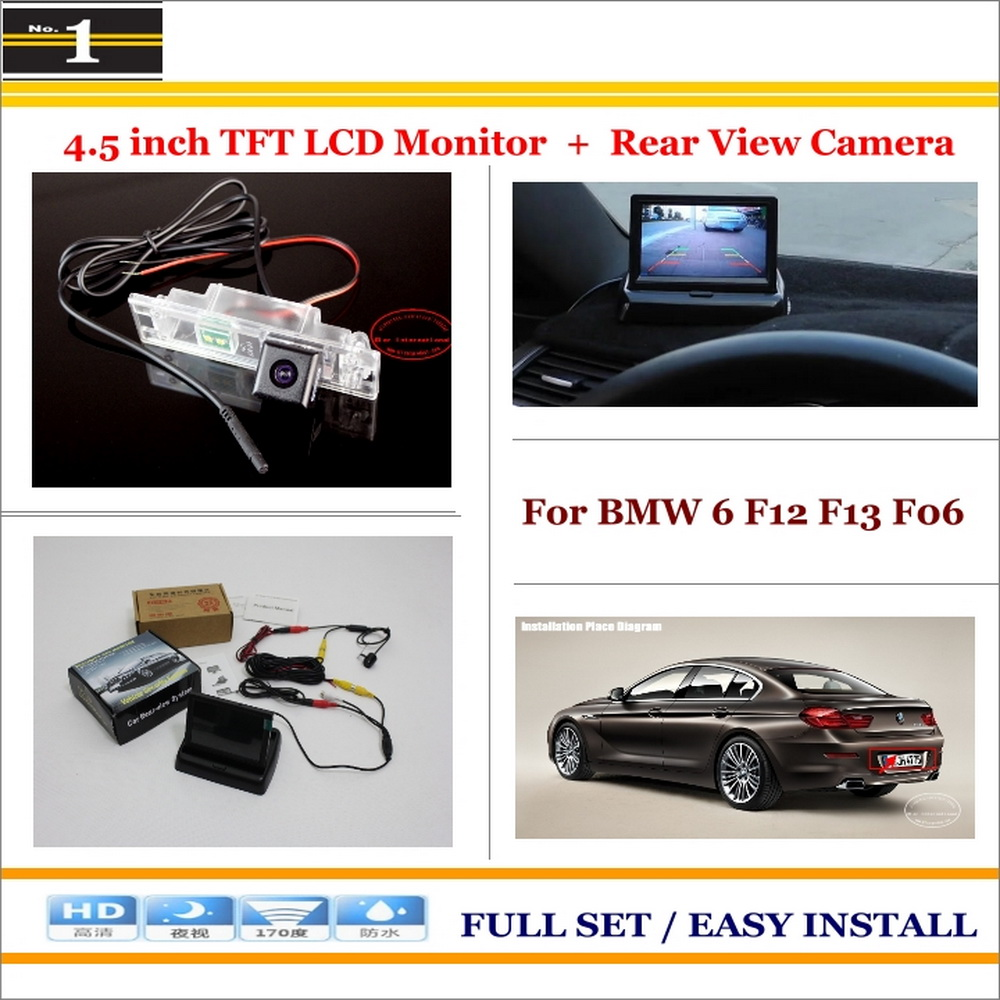 """Car Reverse Backup Rear Camera + 4.3"""" TFT LCD Screen Monitor = 2 in 1 Rearview Parking System - For BMW 6 F12 F13 F06(China (Mainland))"""