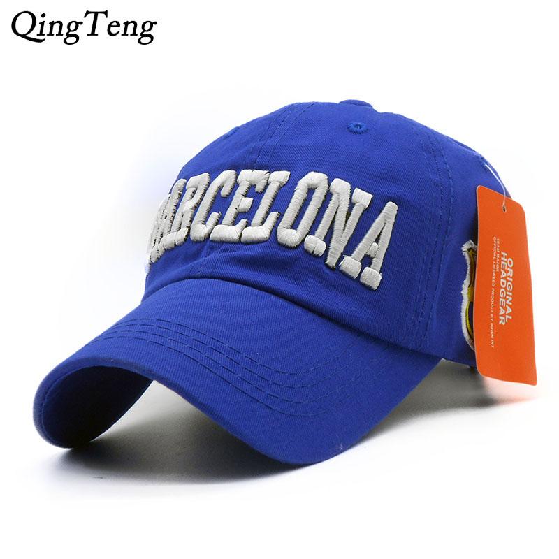 Men Baseball Cap Barcelona Hat For Women Casual Adjustable Gorras Washed Cotton Breathable Casual Sun Dad Hats Neymar Bone(China (Mainland))