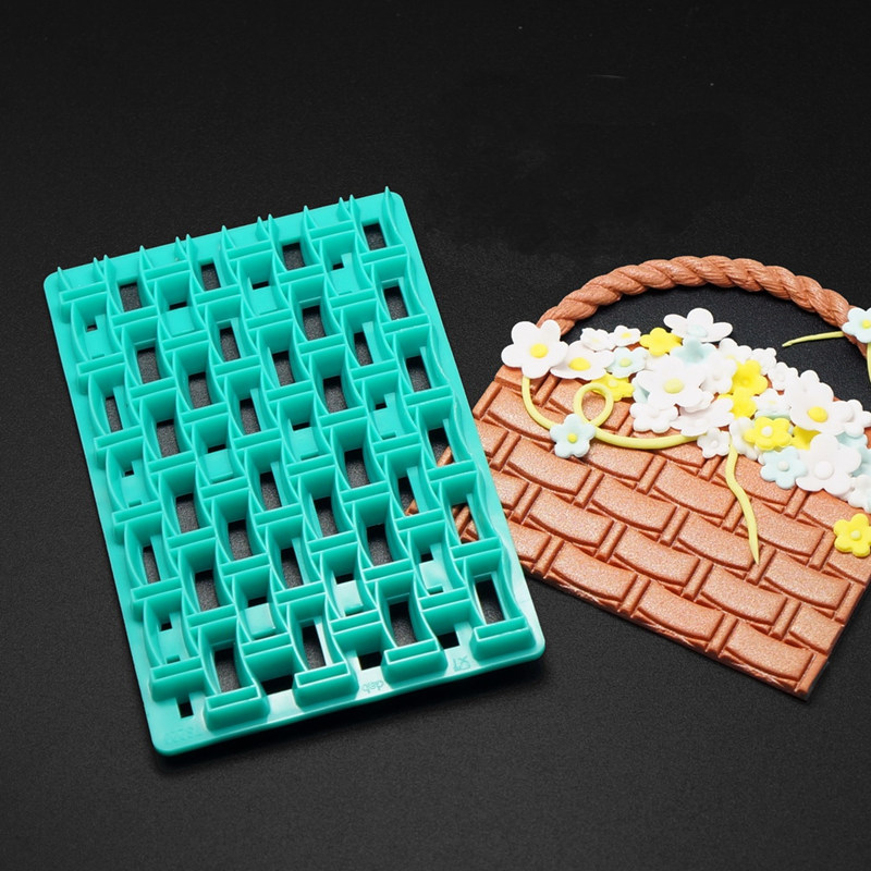 DIY Cake Chocolate Mold Grid Shaped Plastic Printing Biscuits Cookies Cutter Embosser Fondant Gum Paste Cake Decoration Tools(China (Mainland))